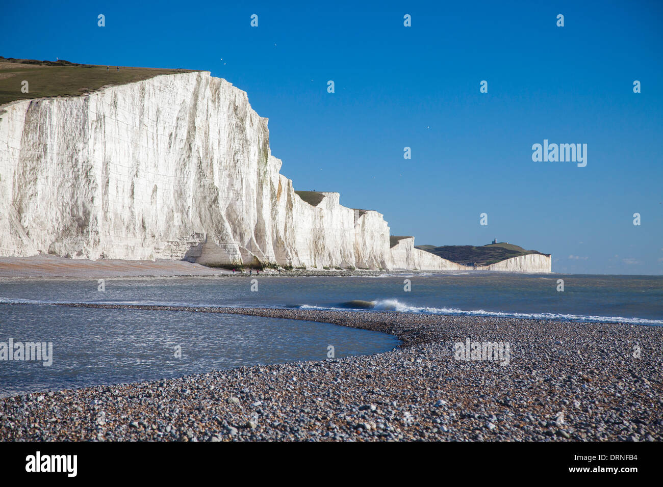 The Seven Sisters from Cuckmere Haven Beach, County Sussex, England. - Stock Image