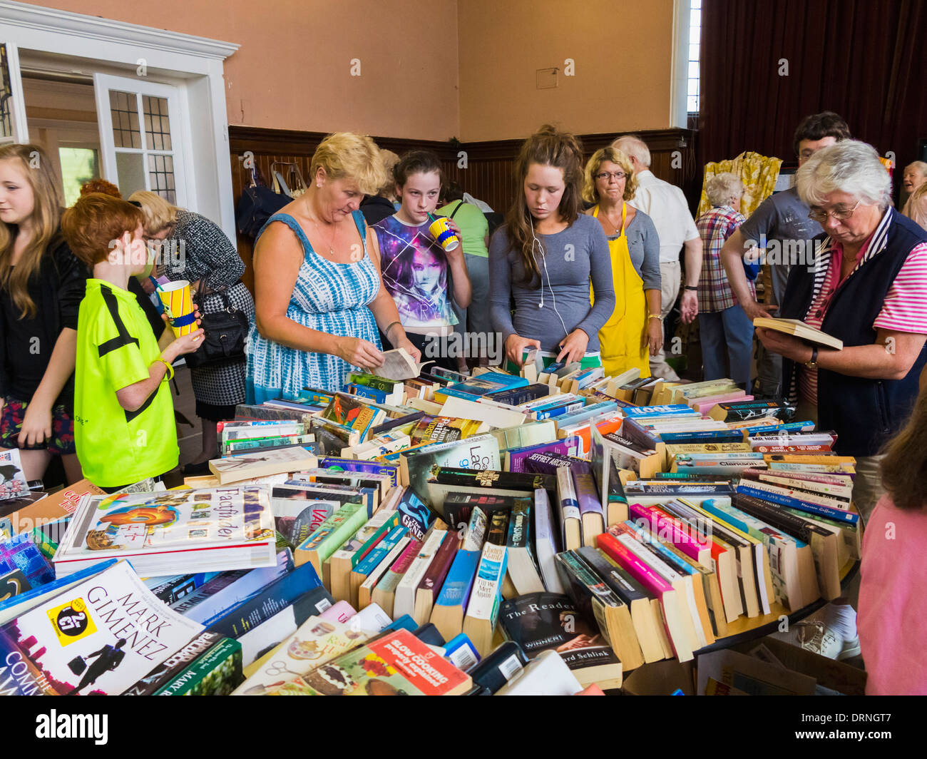 At a charity jumble sale in Dublin, Ireland, Europe - Stock Image