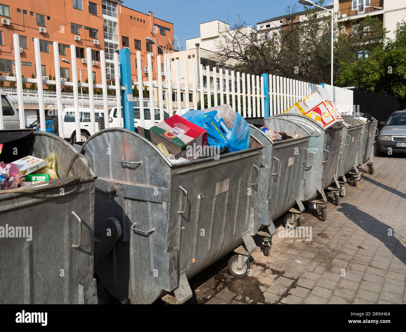 Rubbish bins, Europe - Stock Image