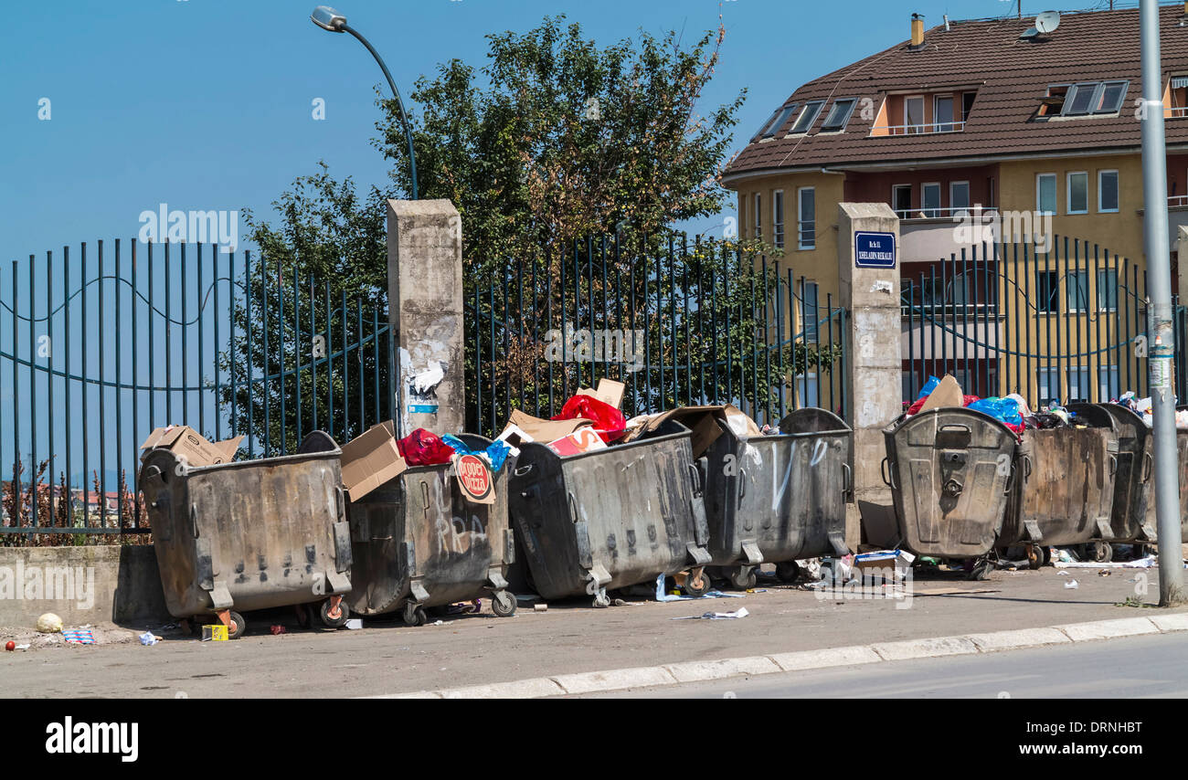 Rubbish bins - Stock Image