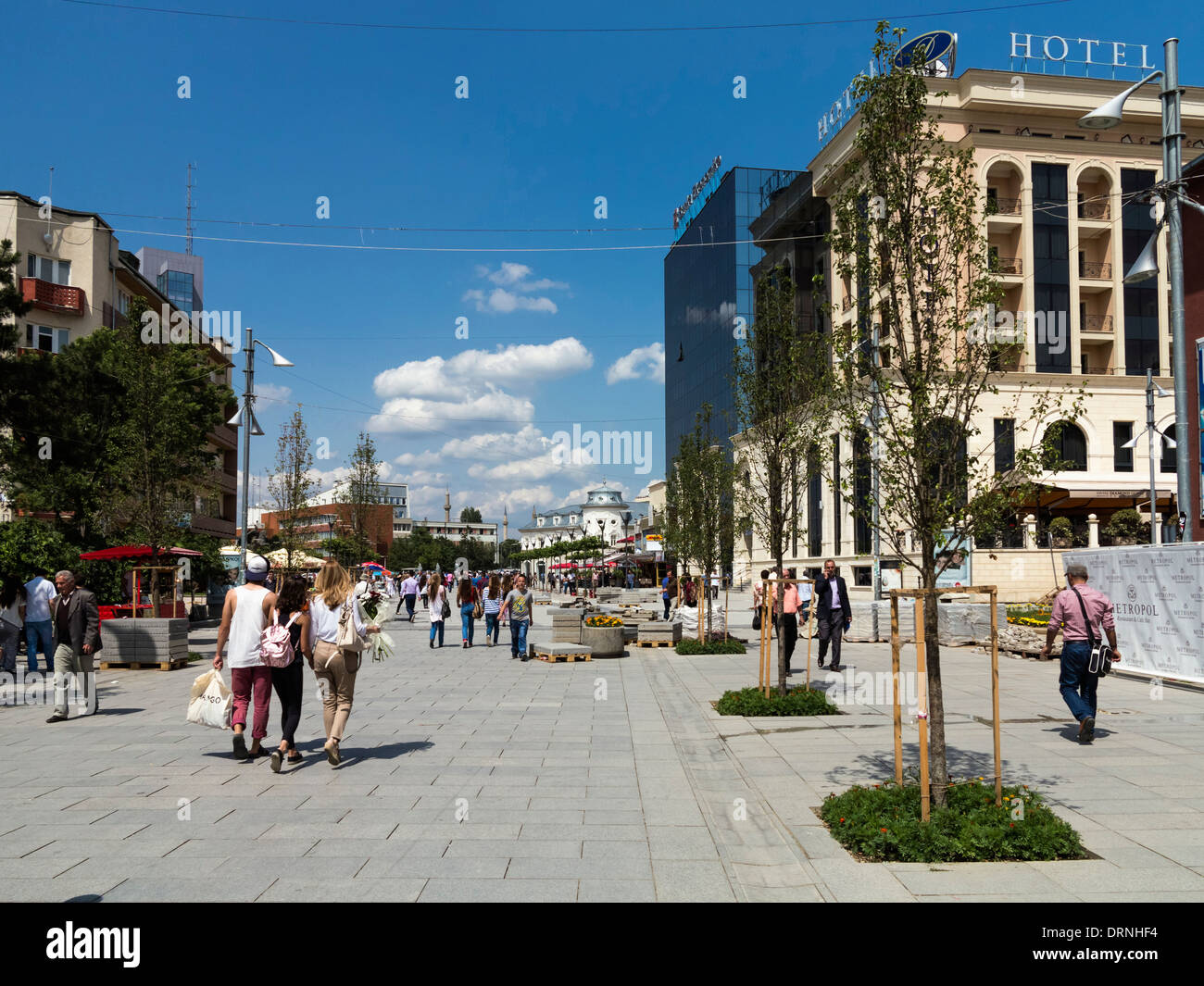 Pristina, Kosovo, Europe - Mother Teresa Square in Pristina city centre - Stock Image