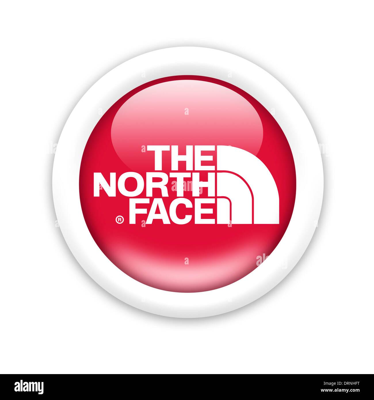 The North Face Logo Symbol Flag Icon Emblem Stock Photo 66242956