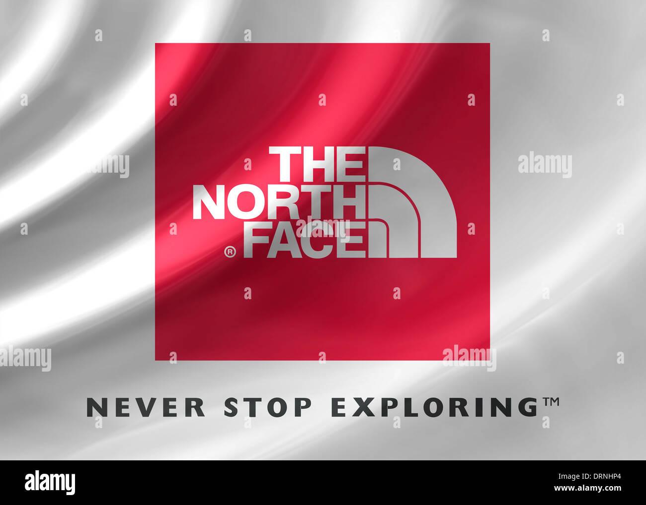 The North Face Logo Symbol Flag Icon Emblem Stock Photo 66243132