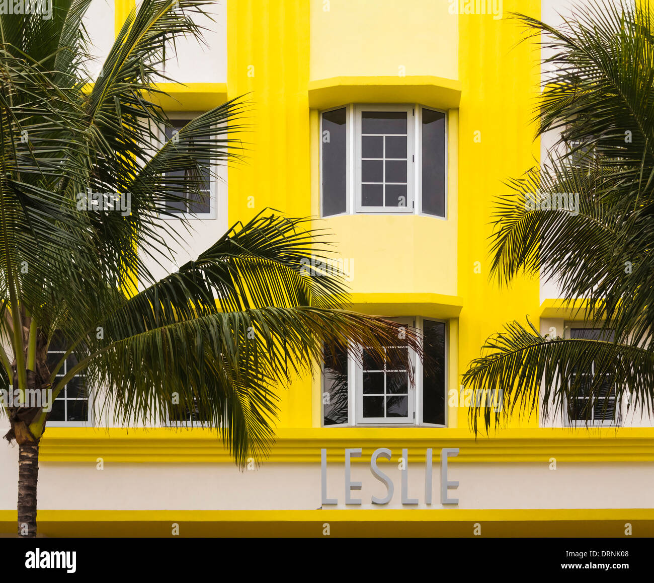 art deco building exterior the leslie hotel miami florida usa