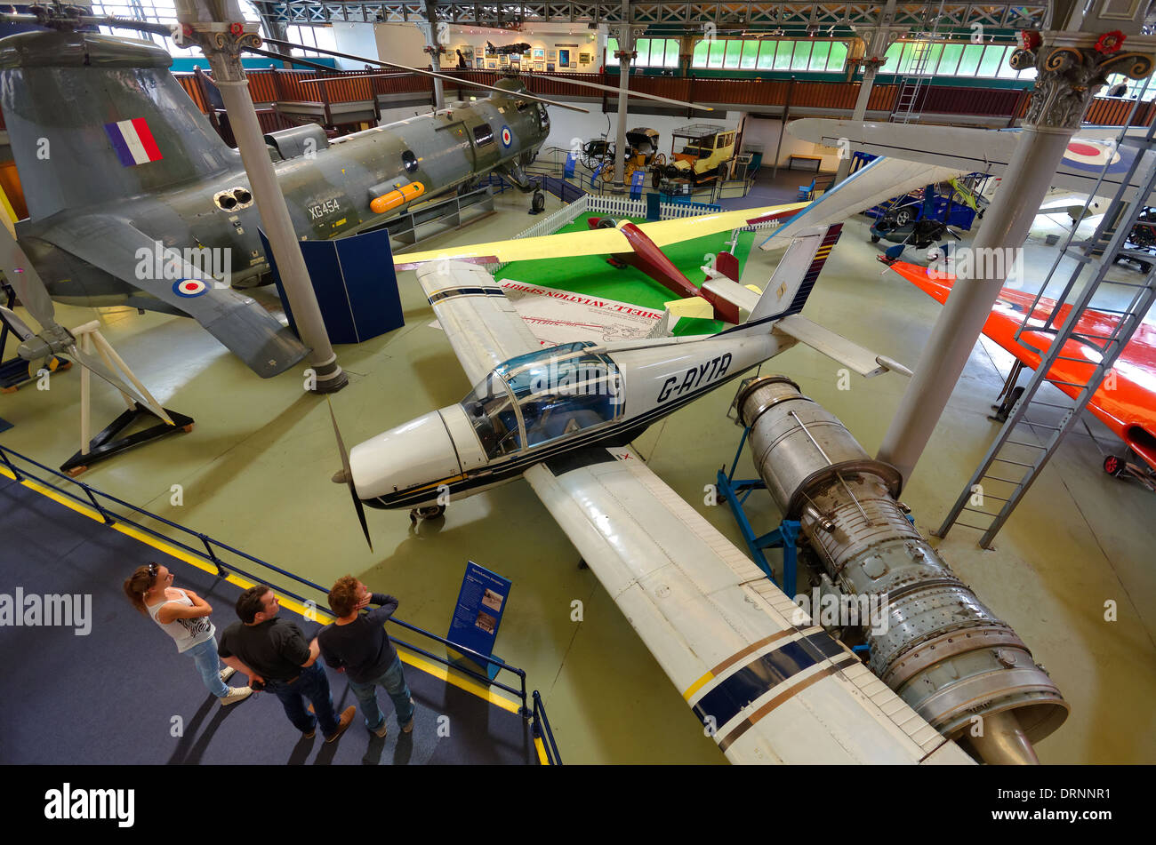 Interior of the Manchester Air and Space Museum, part of the Museum of Science and Industry, Manchester, England - Stock Image