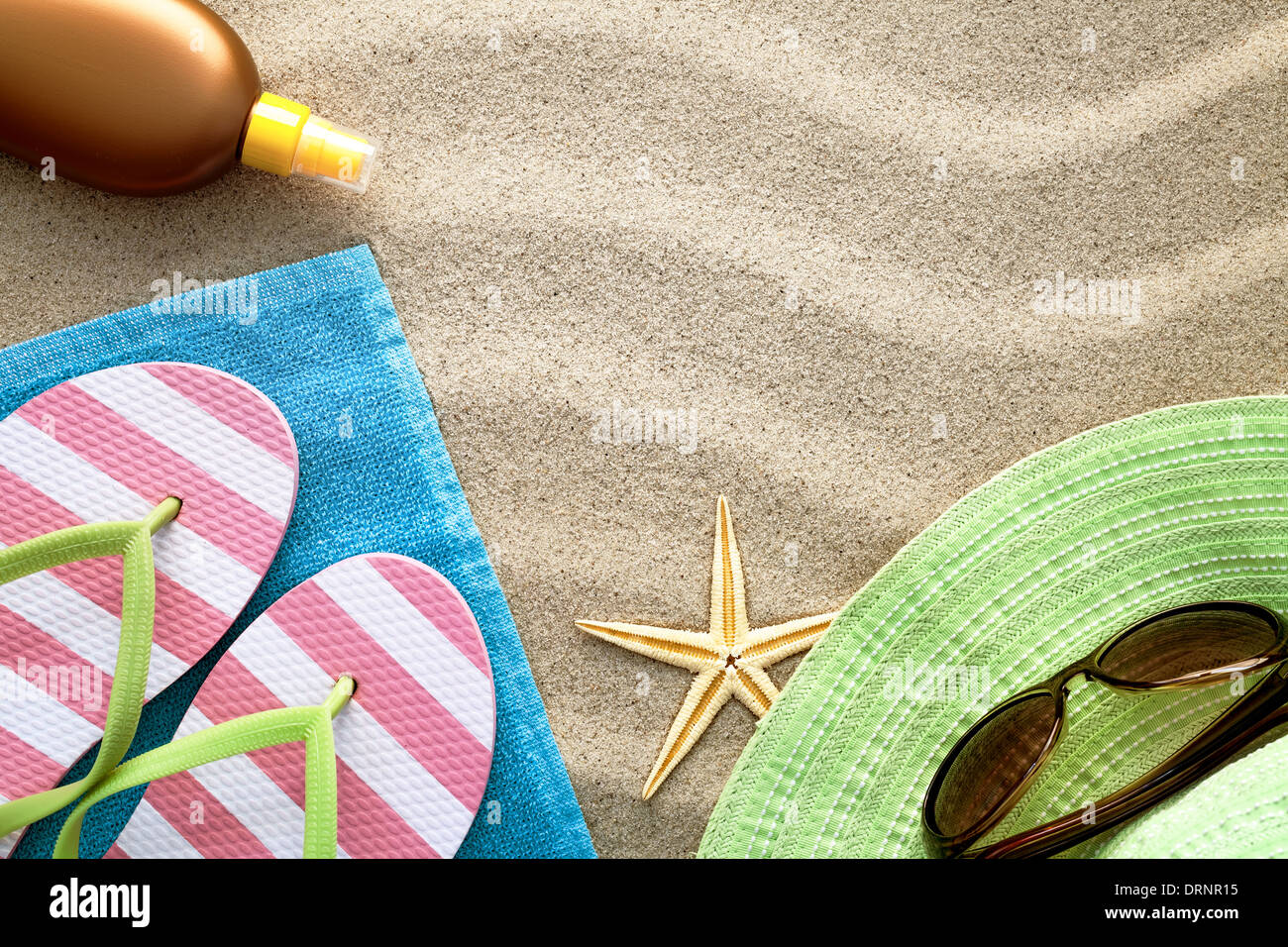 12a9cb7b75d9 Sandy beach background with towel