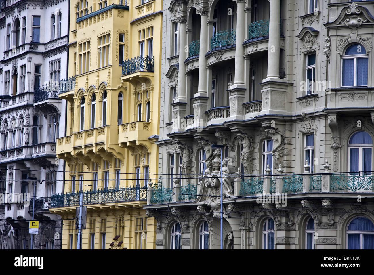 Old buidlings in Prague - Stock Image