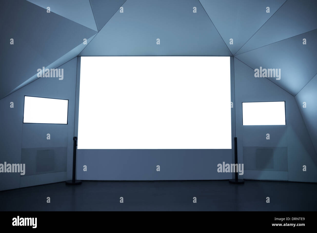 blank projection screen - Stock Image