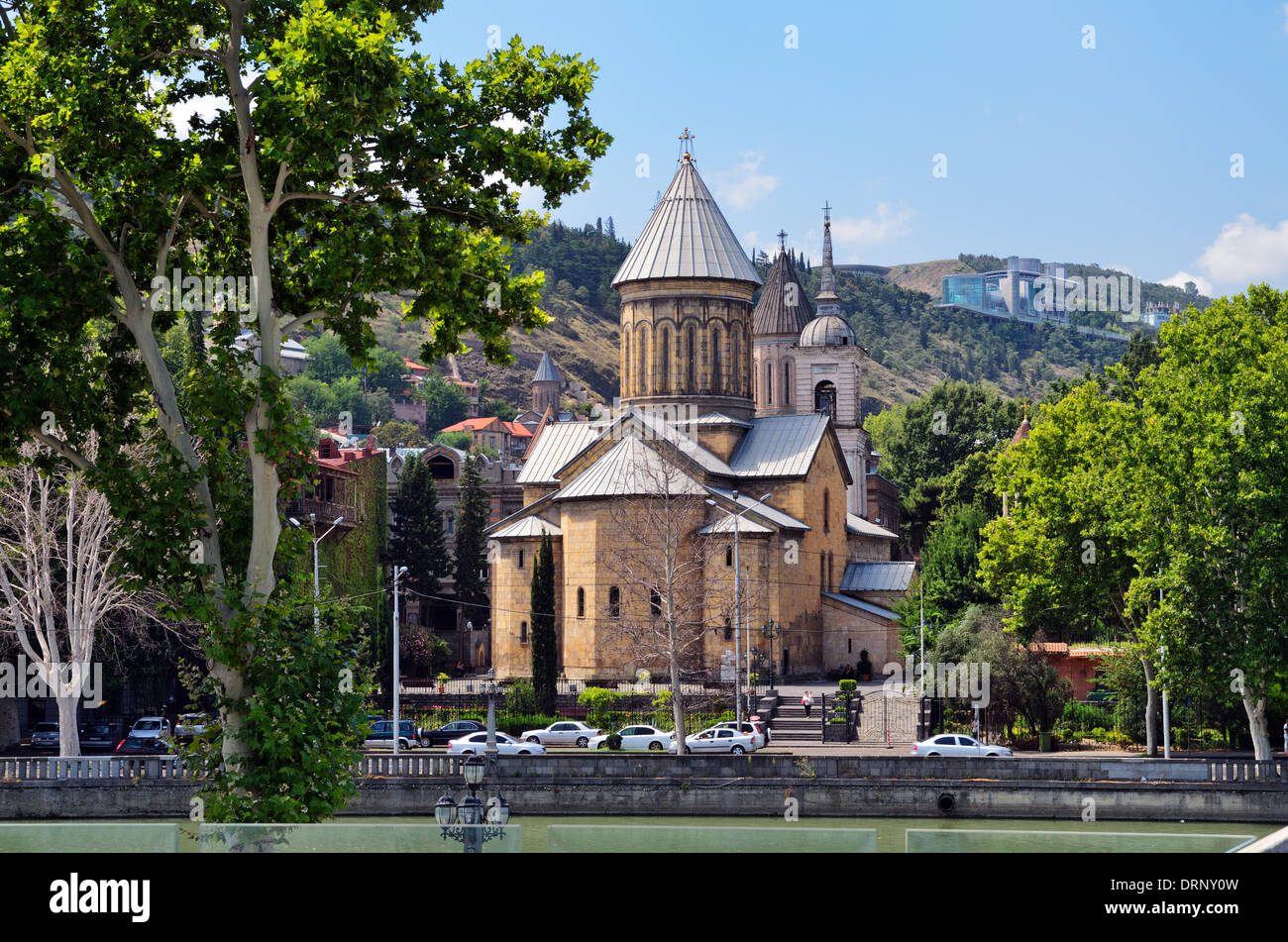 The Sioni Cathedral of the Dormition, built in 7th century, Tbilisi, Georgia - Aug 2013 Stock Photo