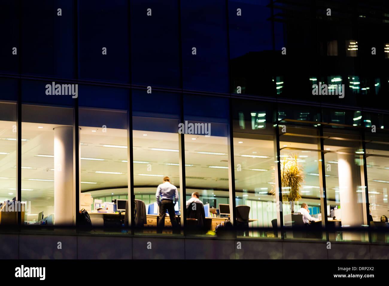 Informal meeting in modern office building, London, UK - Stock Image