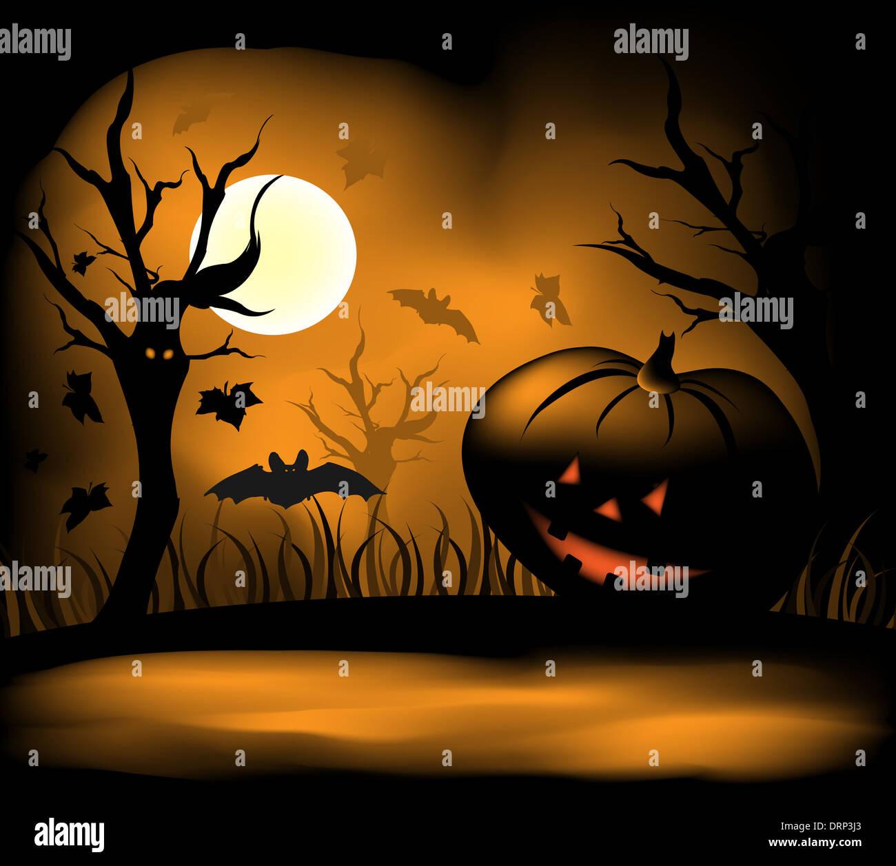 Halloween background - Stock Image