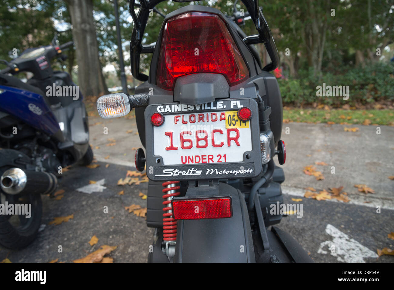 Special Under 21 License Plate On Motor Scooters And Motorcycles On