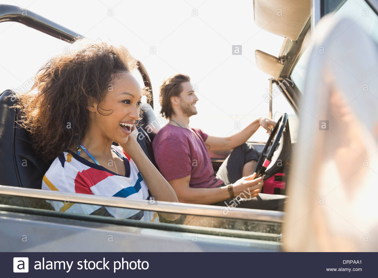 Couple on road trip - Stock Image