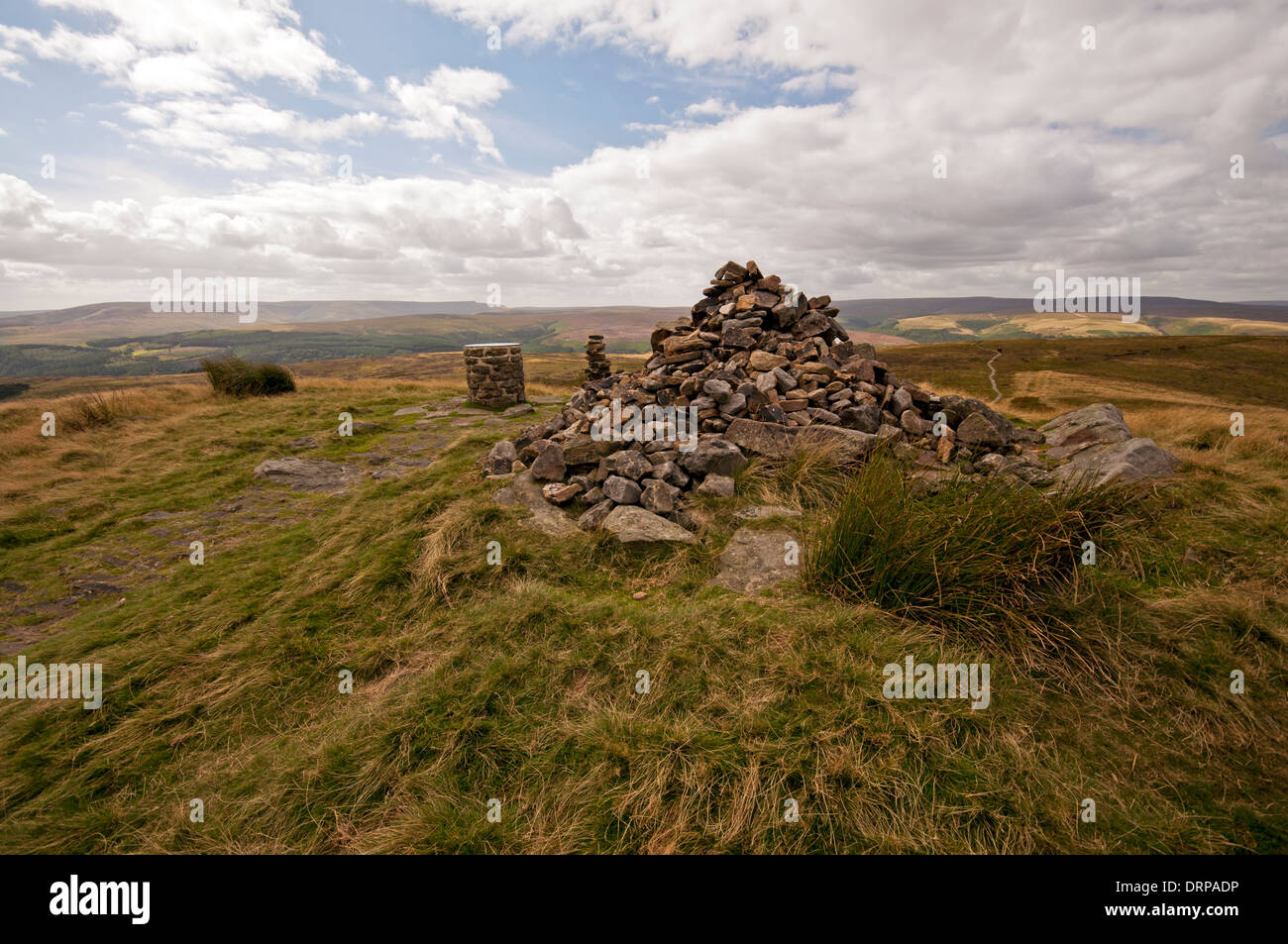Lost Lad summit on the northern end of Derwent Edge in the Peak District National Park. - Stock Image