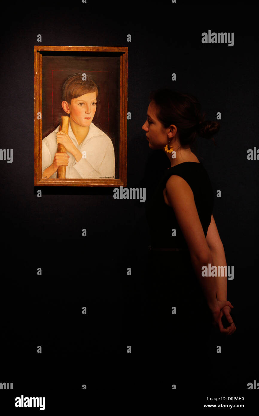 Russian Art at Christie's - Stock Image