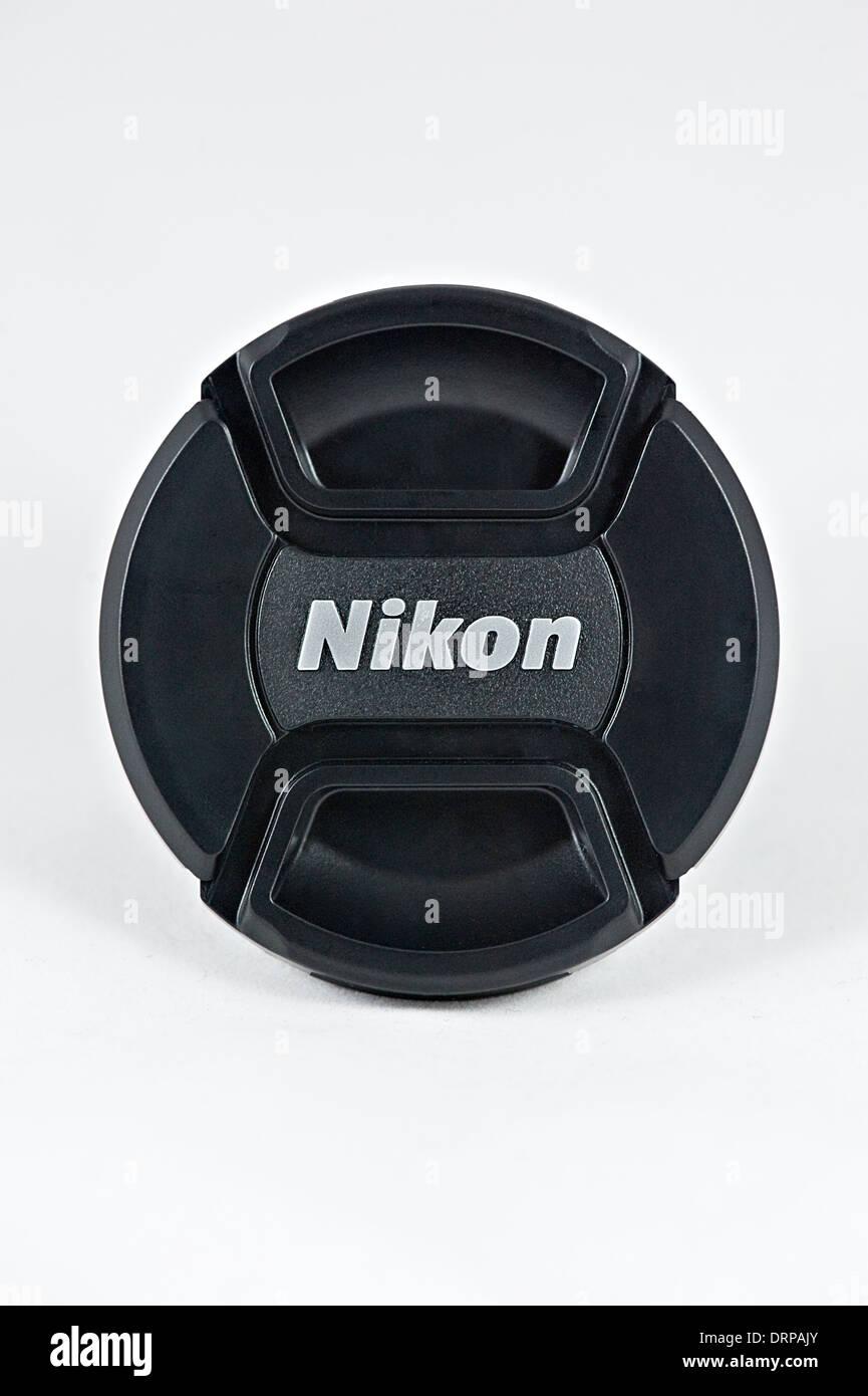 A Nikon Lens Cap - Stock Image