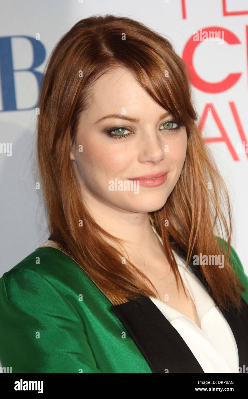 Emma Stone at the 2012 People's Choice Awards Press Room, Nokia Theatre. Los Angeles, CA 01-11-12 - Stock Image