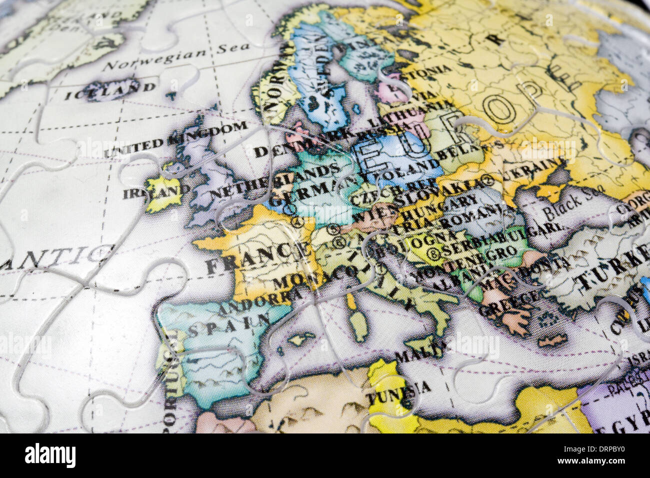 Simple Map Of Europe Stock Photos Simple Map Of Europe Stock