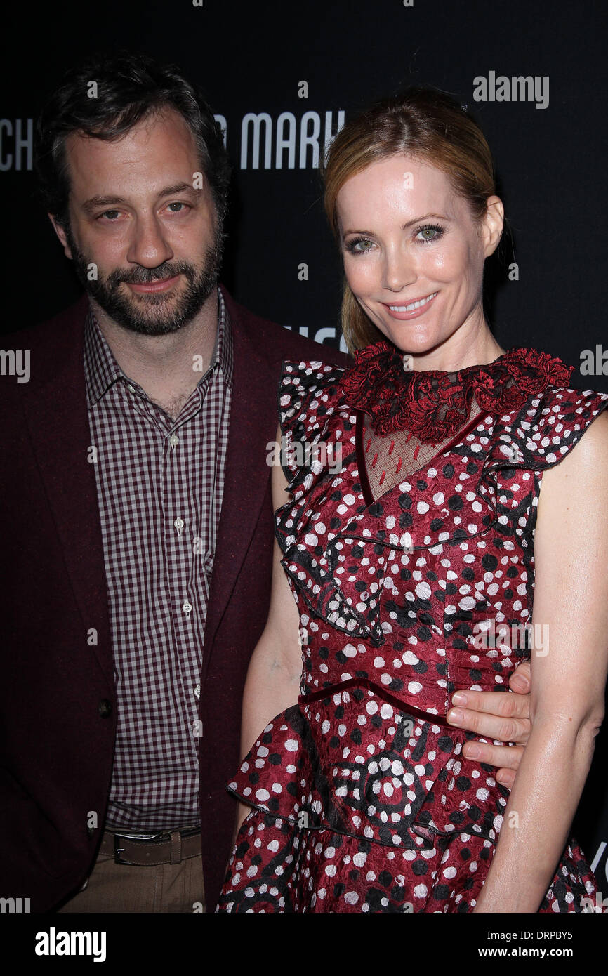 Judd Apatow, Leslie Mann at the 8th Annual Pink Party, Hangar 8, Santa Monica, CA 10-27-12 - Stock Image