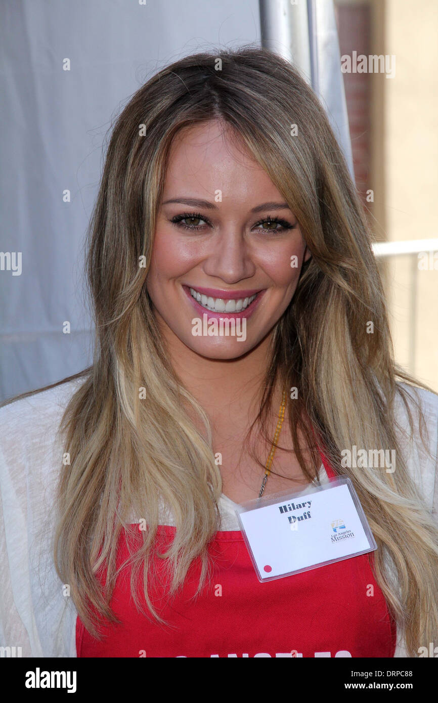 Hilary Duff at the Skid Row Block Party at the Los Angeles Mission, Los Angeles, CA. 08-27-11 - Stock Image