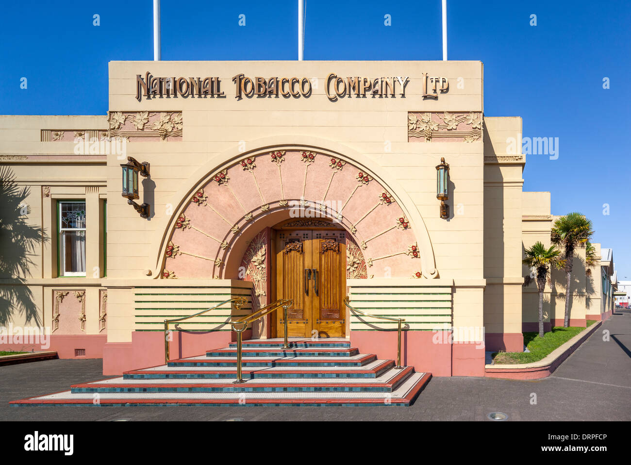 Napier Art Deco Famous National Tobacco Company Building, formerly Rothmans Building. Napier Ahuriri, New Zealand - Stock Image