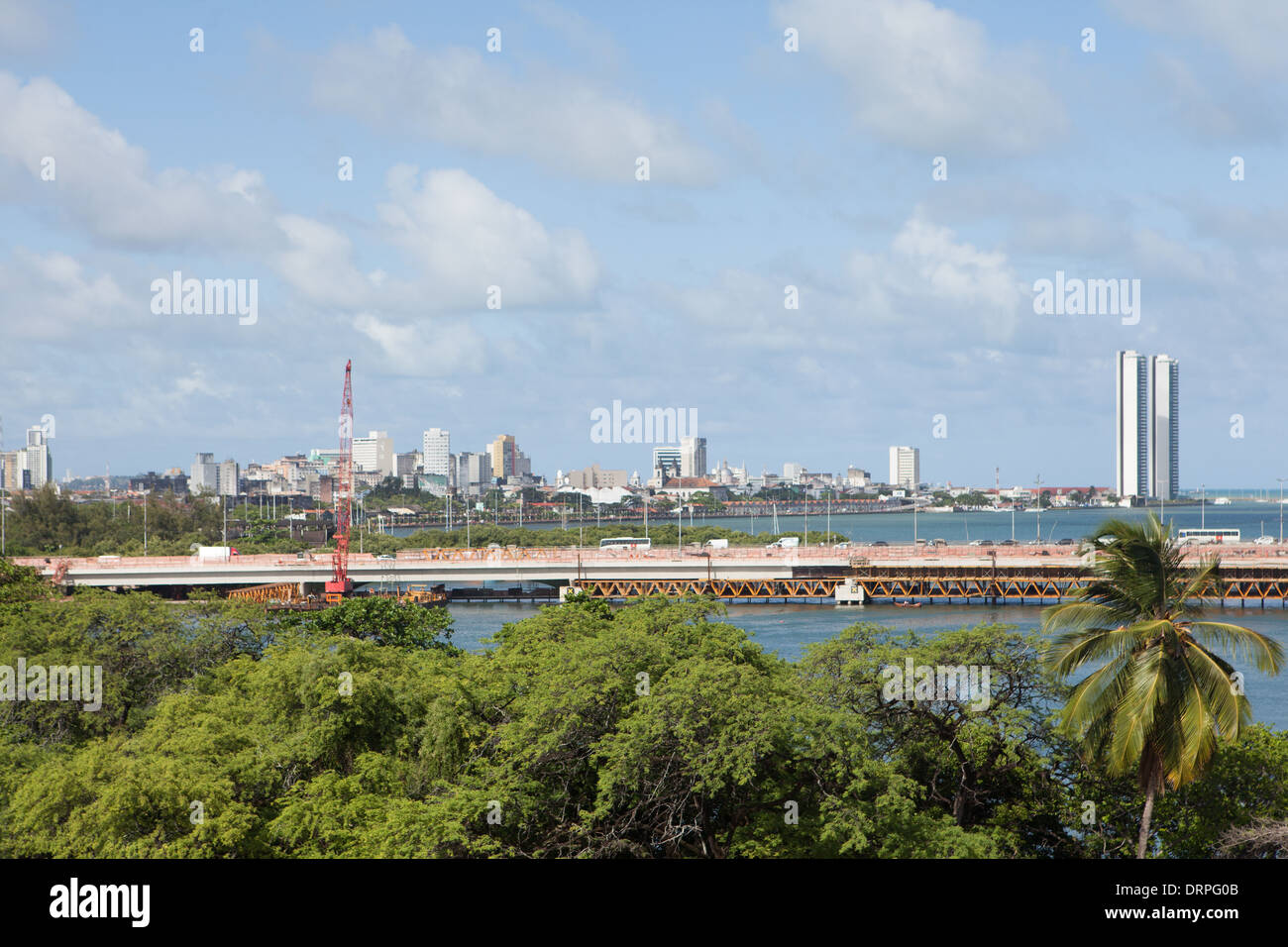 Panorama of Recife in Brasil - Stock Image