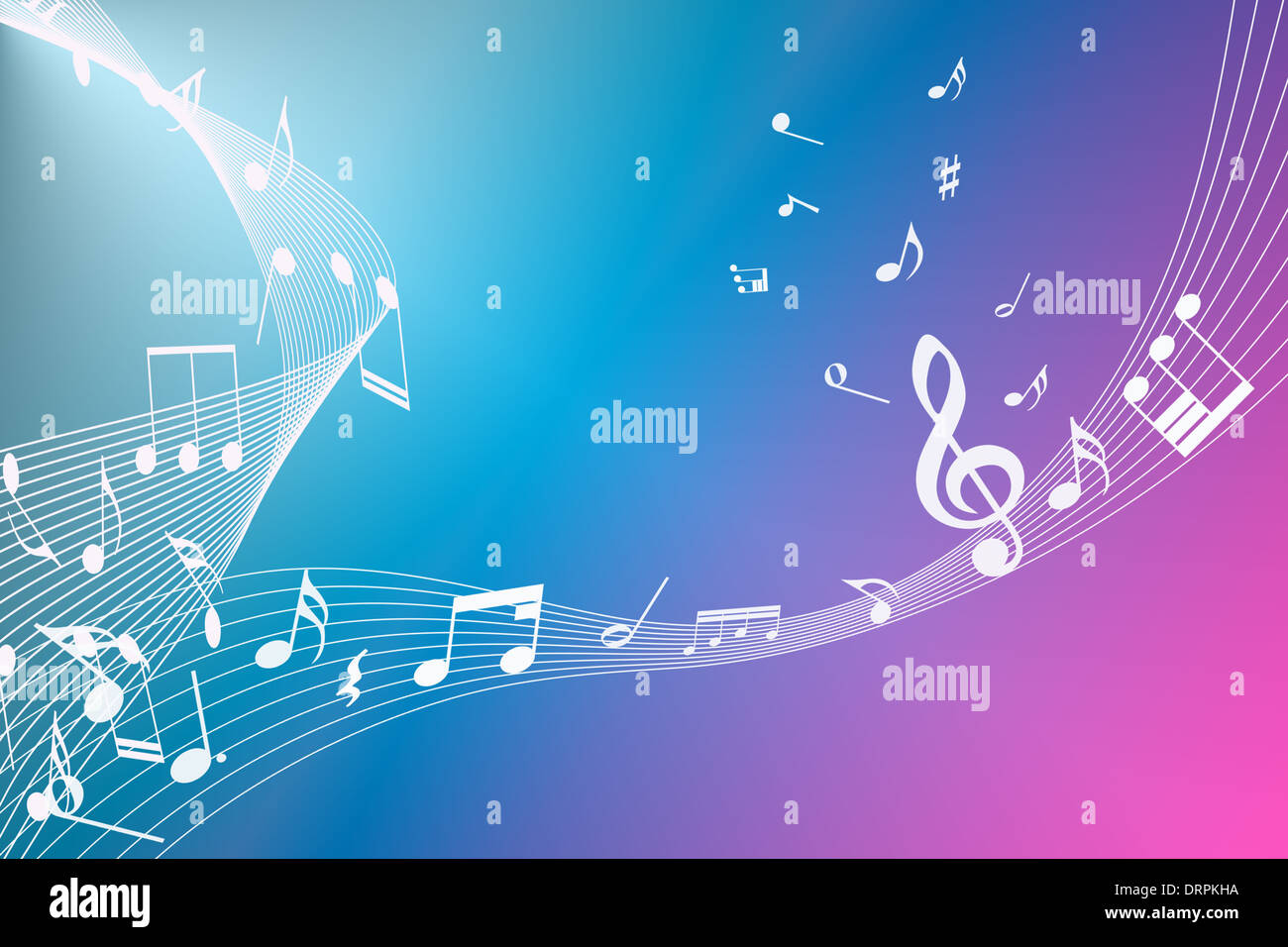 Music notes background stock photos music notes background stock abstract background of music notes stock image voltagebd Image collections