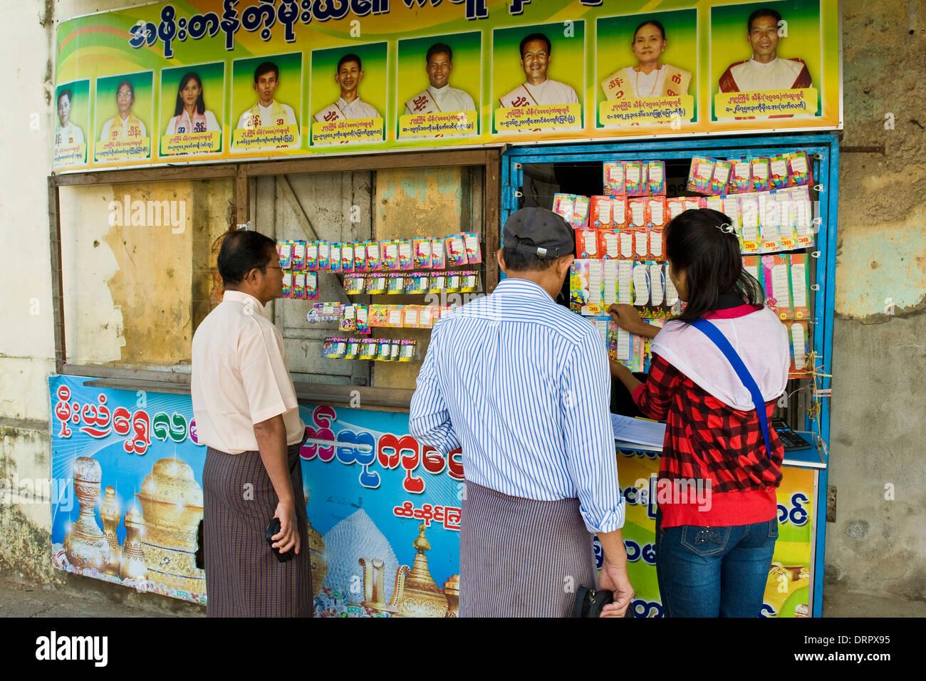 Myanmar, Yangon, lottery Stock Photo: 66271777 - Alamy
