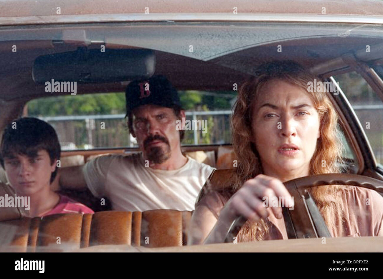 LABOR DAY  2013 Paramount Pictures film with from left Gattlin Griffin, Josh Brolin, Kate Winslet - Stock Image