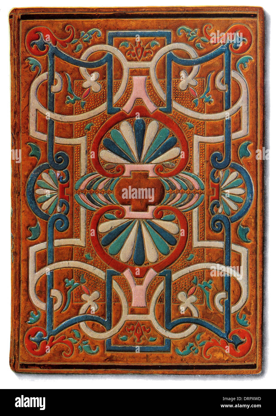 mosaic book cover  1549 - Stock Image