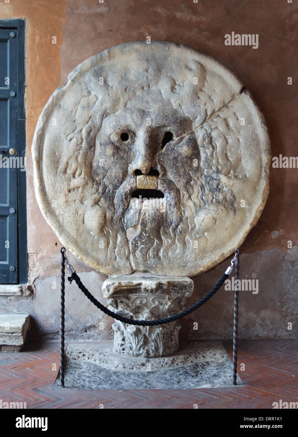 The Mouth of Truth. Church of Santa Maria in Cosmedin in Rome, Italy. - Stock Image