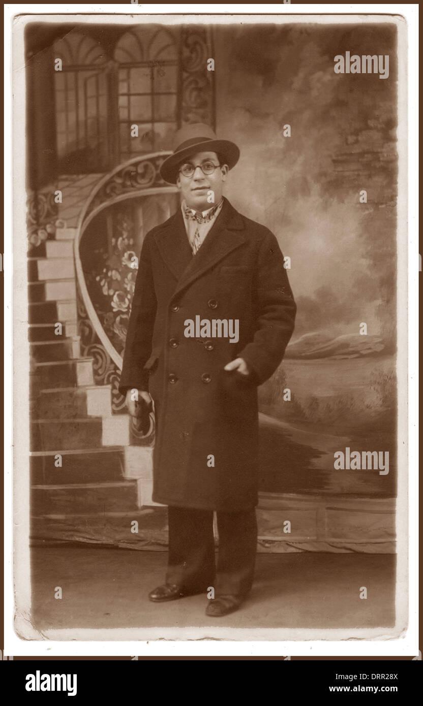 A formal posed portrait of a European Jewish man circa 1935. - Stock Image