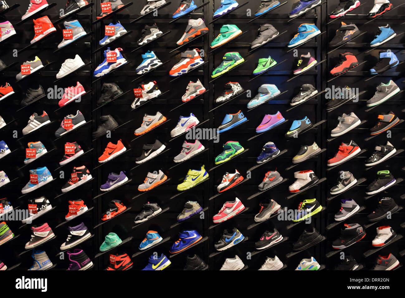athletic shoes at Foot locker sporting