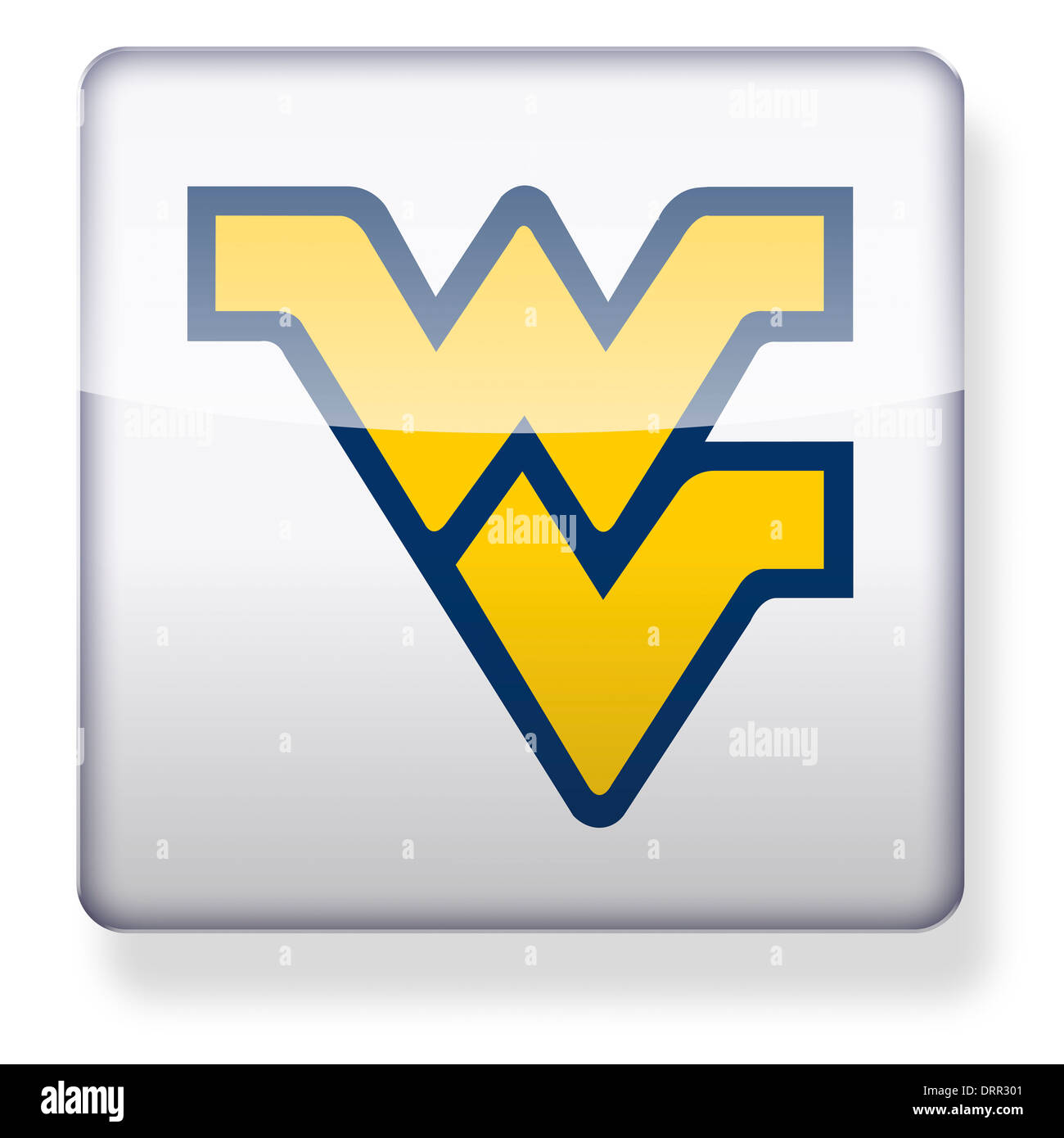 info for 6debc 21c08 West Virginia Mountaineers US college football logo as an app icon.  Clipping path included.