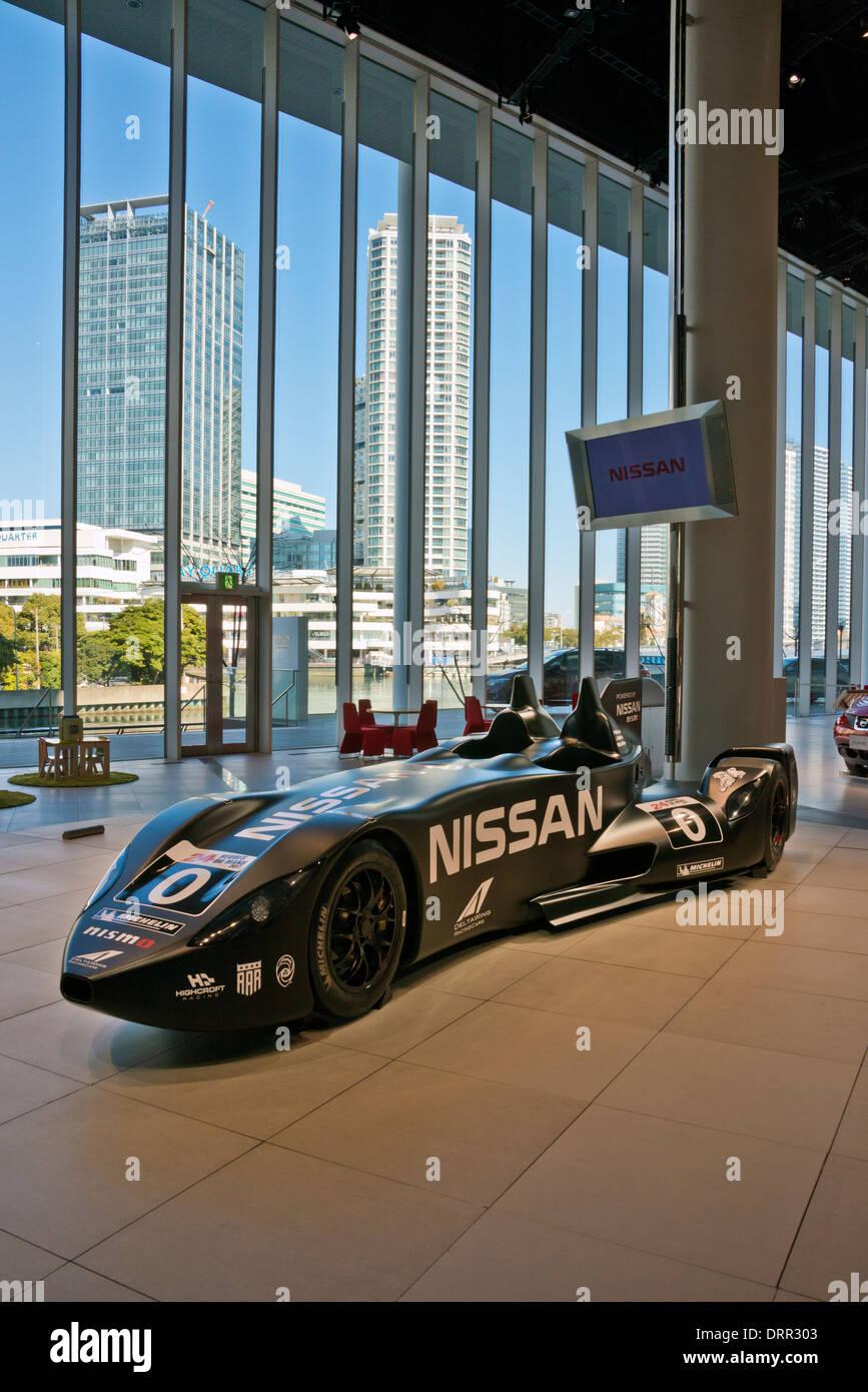 Nissan Gallery with view of Yokohama, Japan - Stock Image