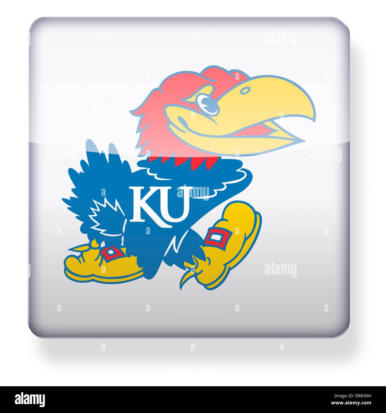 Kansas Jayhawks Us College Football Logo As An App Icon Clipping