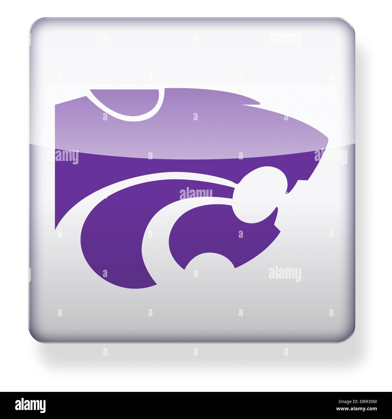 Kansas State Wildcats Us College Football Logo As An App Icon Stock