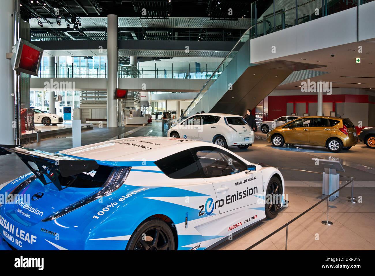 Nissan Gallery, Global Headquarters, Yokohama, Japan - Stock Image
