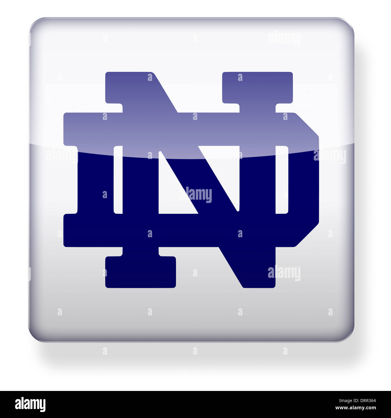 24f8e5028d6 Notre Dame Fighting Irish US college football logo as an app icon. Clipping  path included.