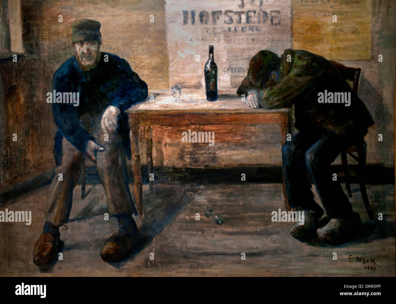 The Drunks by James Ensor 1860-1949  Belgian Belgium - Stock Image