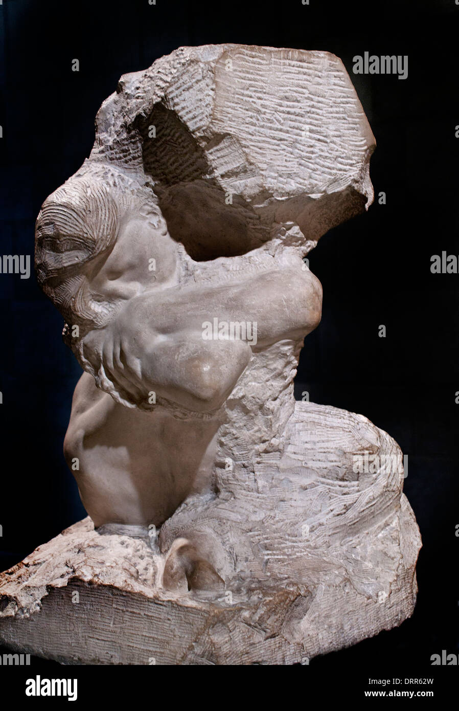 Fallen Caryatid carrying her Stone 1881 AUGUSTE RODIN (1840-1917) France French - Stock Image
