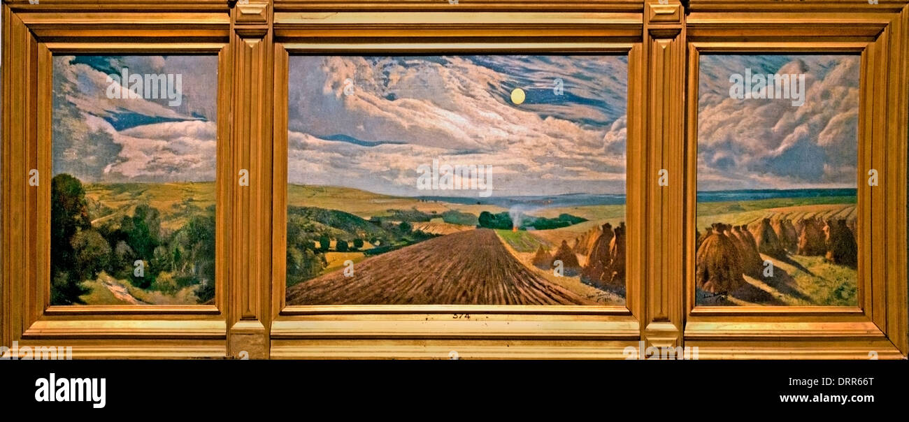 Moonlight 1898 Leon Frederic 1856-1940 Belgian Belgium - Stock Image