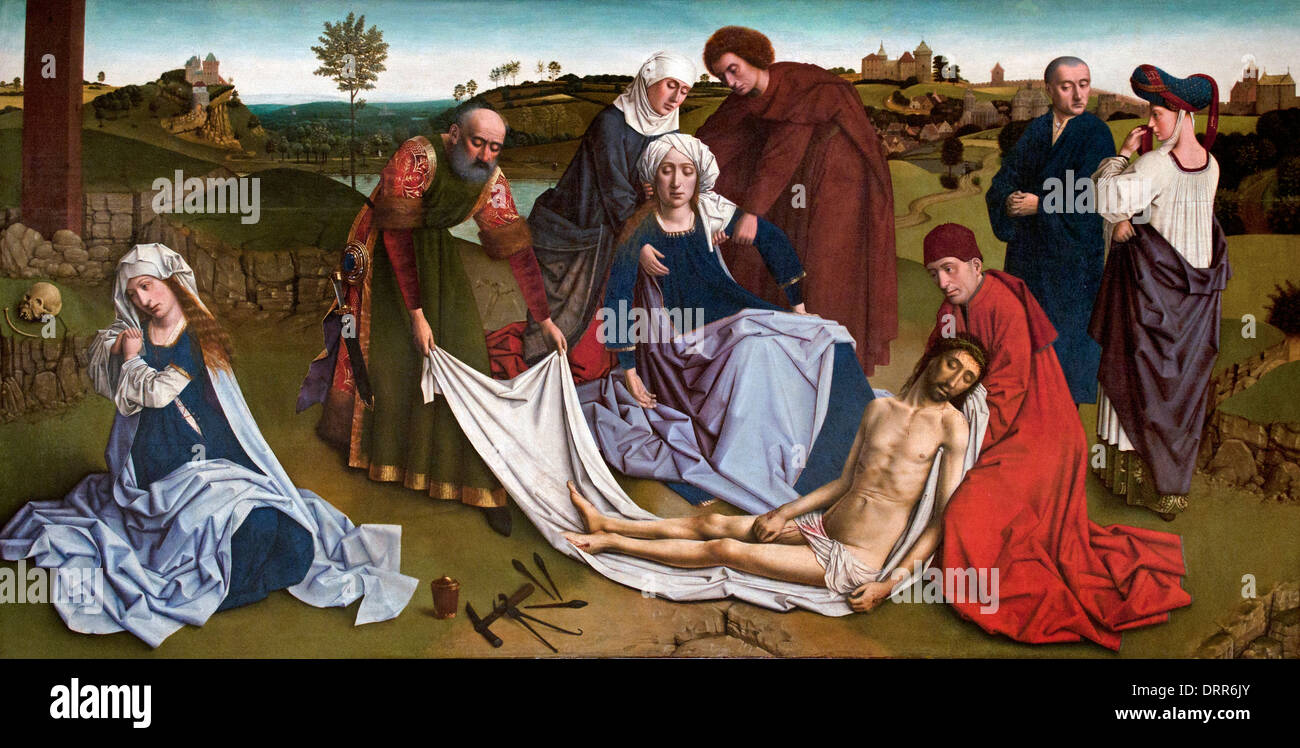 Lamentations 1450  Petrus Christus1410- 1476  Dutch Netherlands - Stock Image