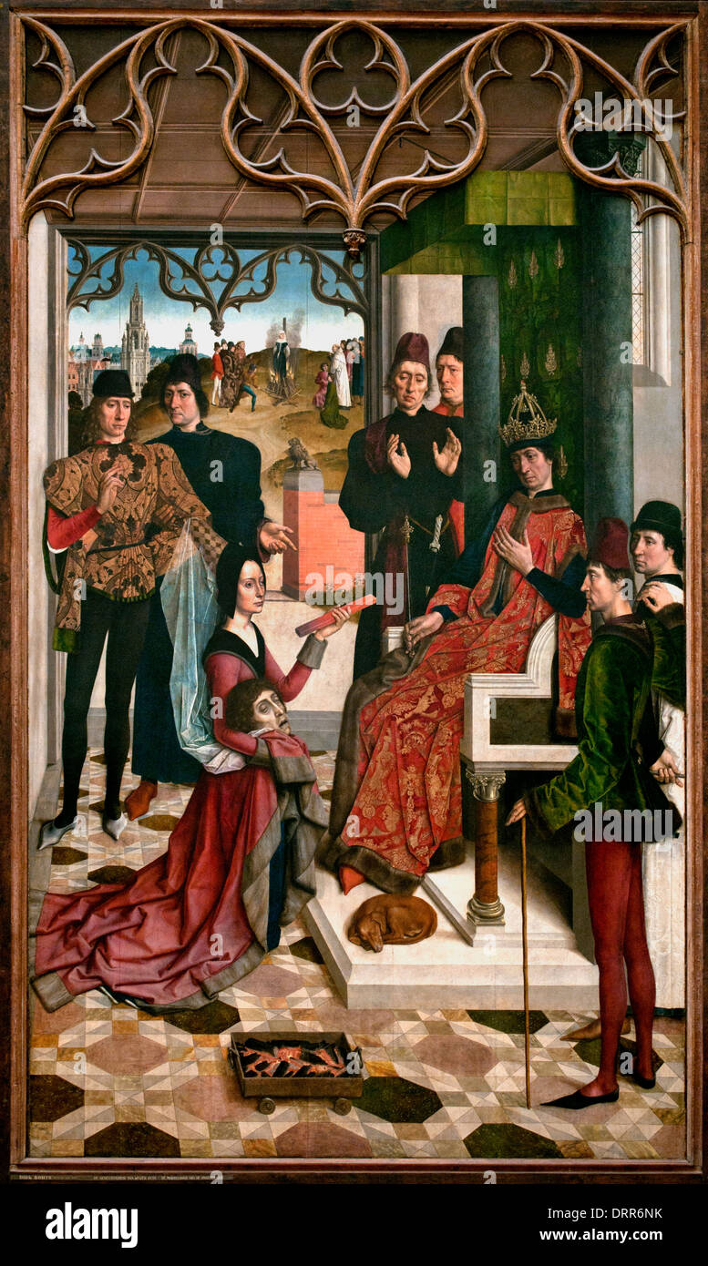 The Justice of the Emperor Otto: The Acid Test 1471Dirk Diedrick Dieric Bouts 1410-1475 Dutch Netherlands Dutch Netherlands - Stock Image
