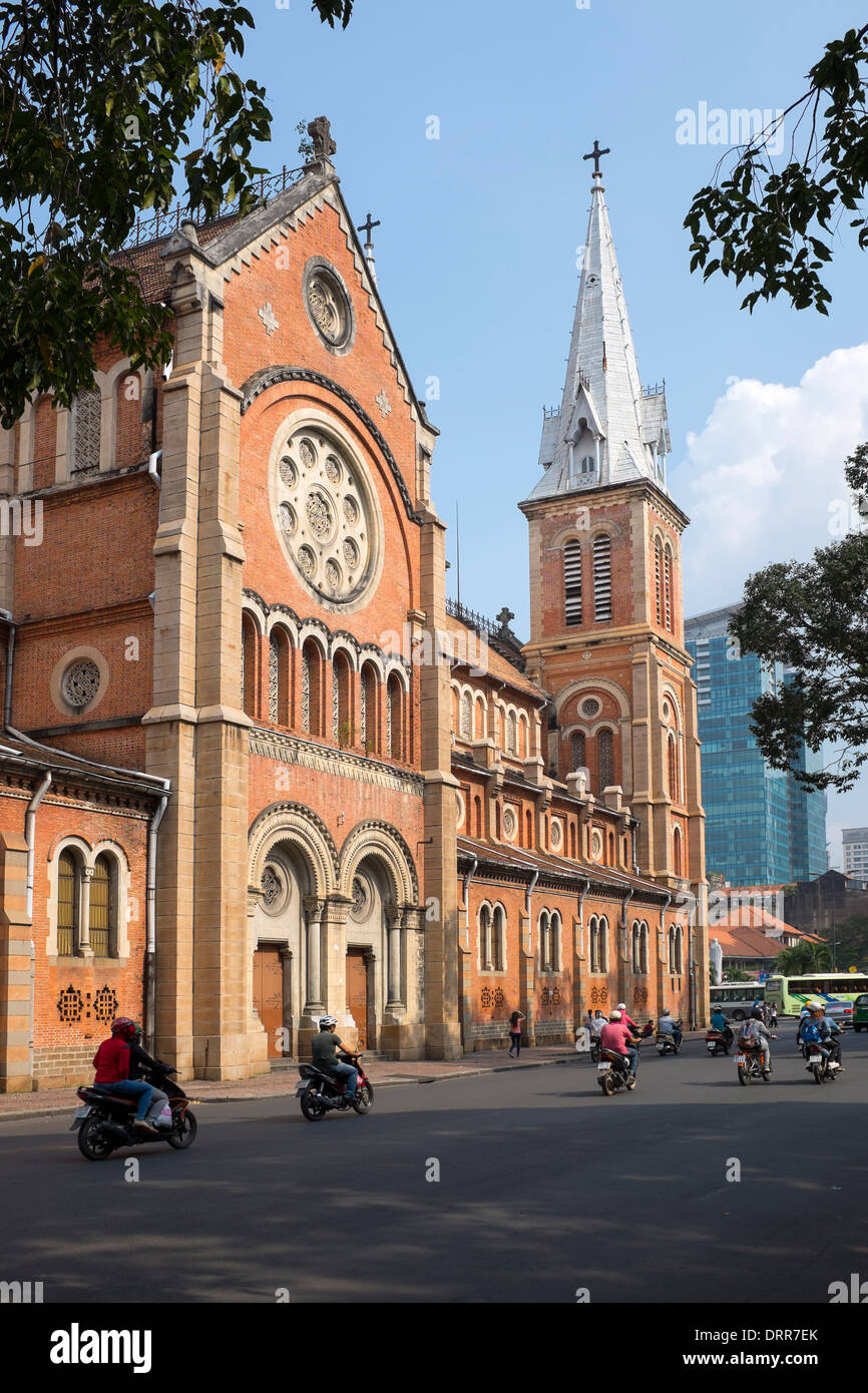 Notre Dame Cathedral Ho Chi Minh City - Stock Image