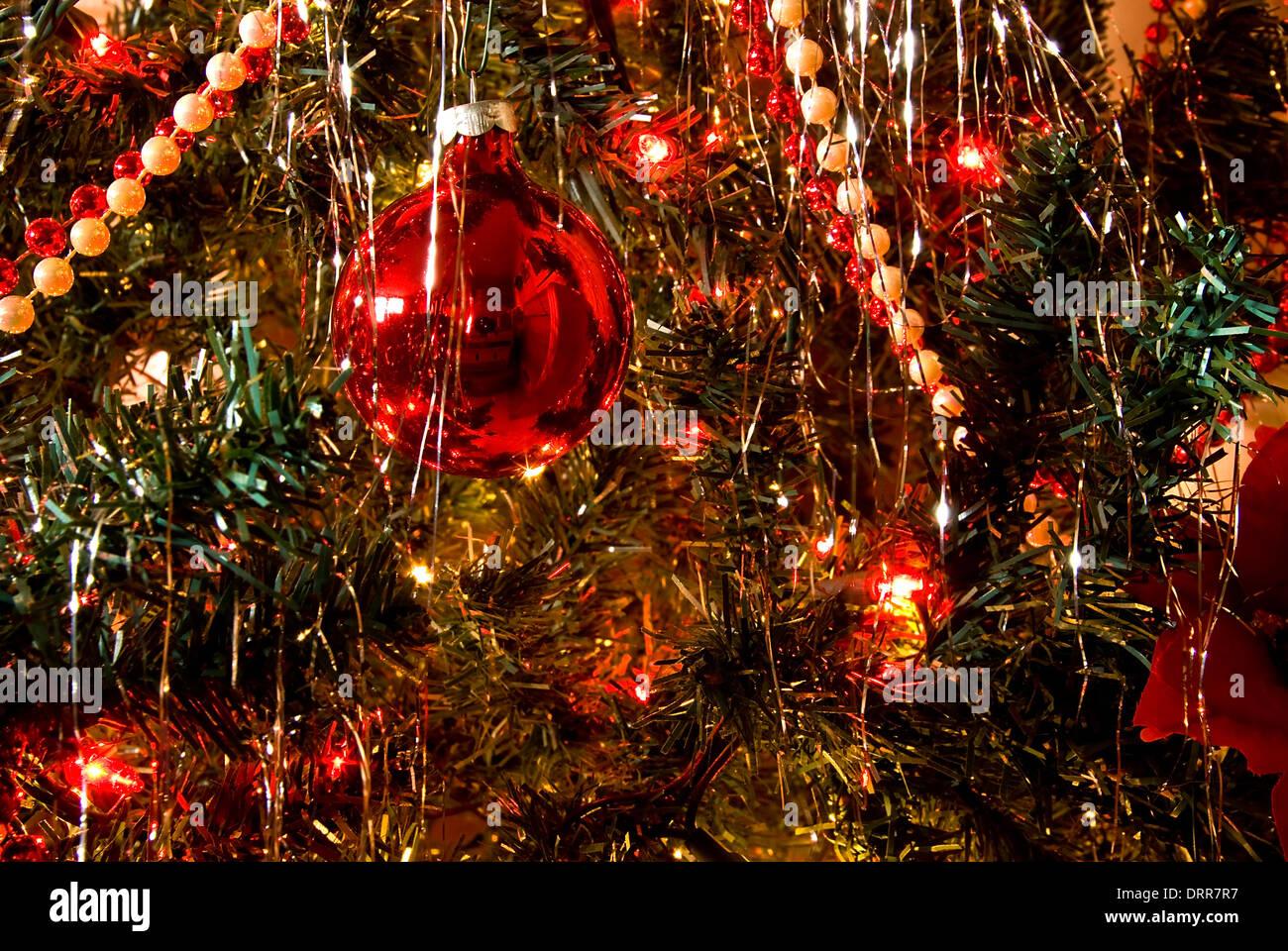 Christmas Tree Decorations Tinsel Garland Stock Photos Christmas