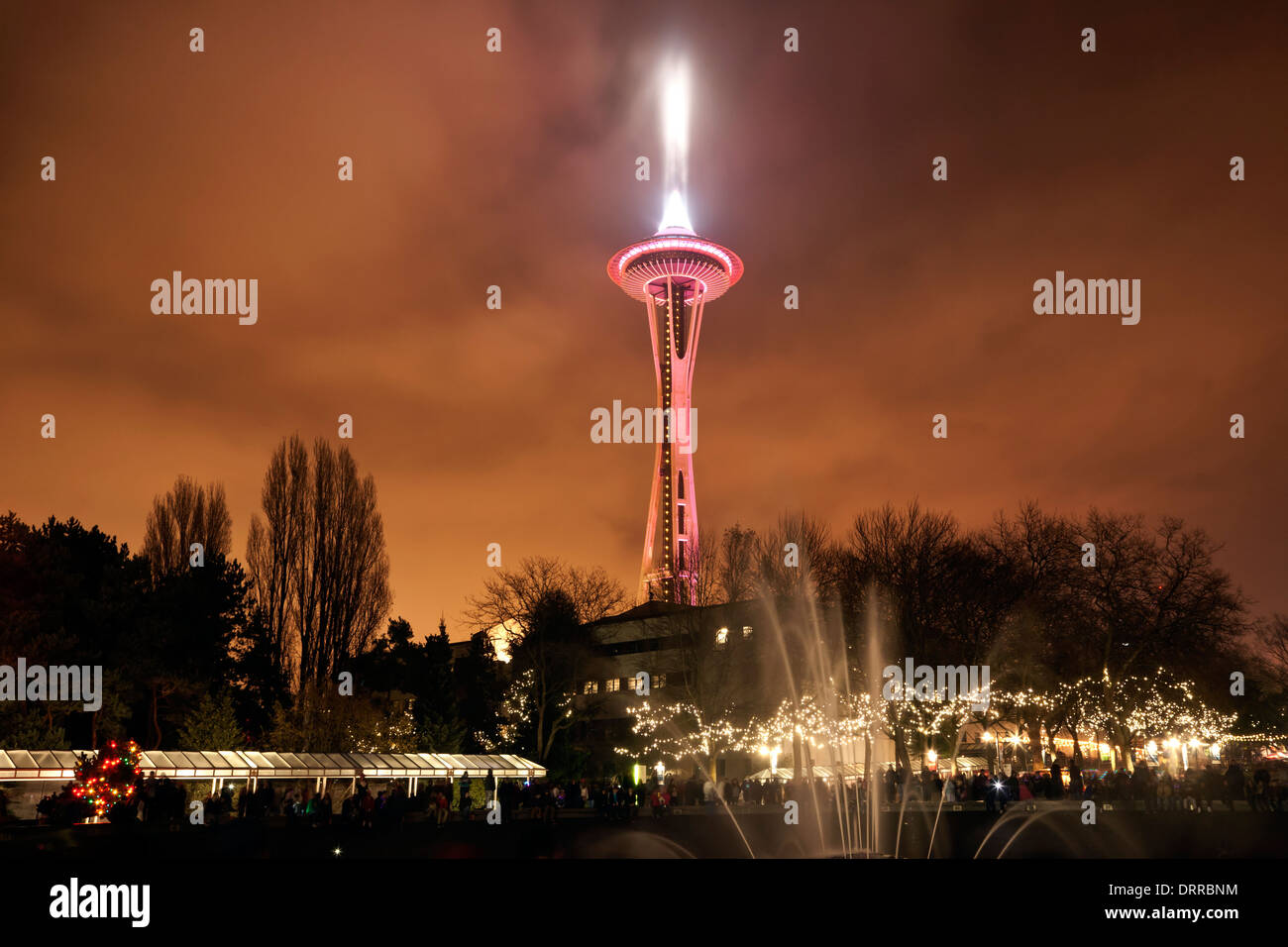 Seattle Downtown At Christmas Stock Photos & Seattle