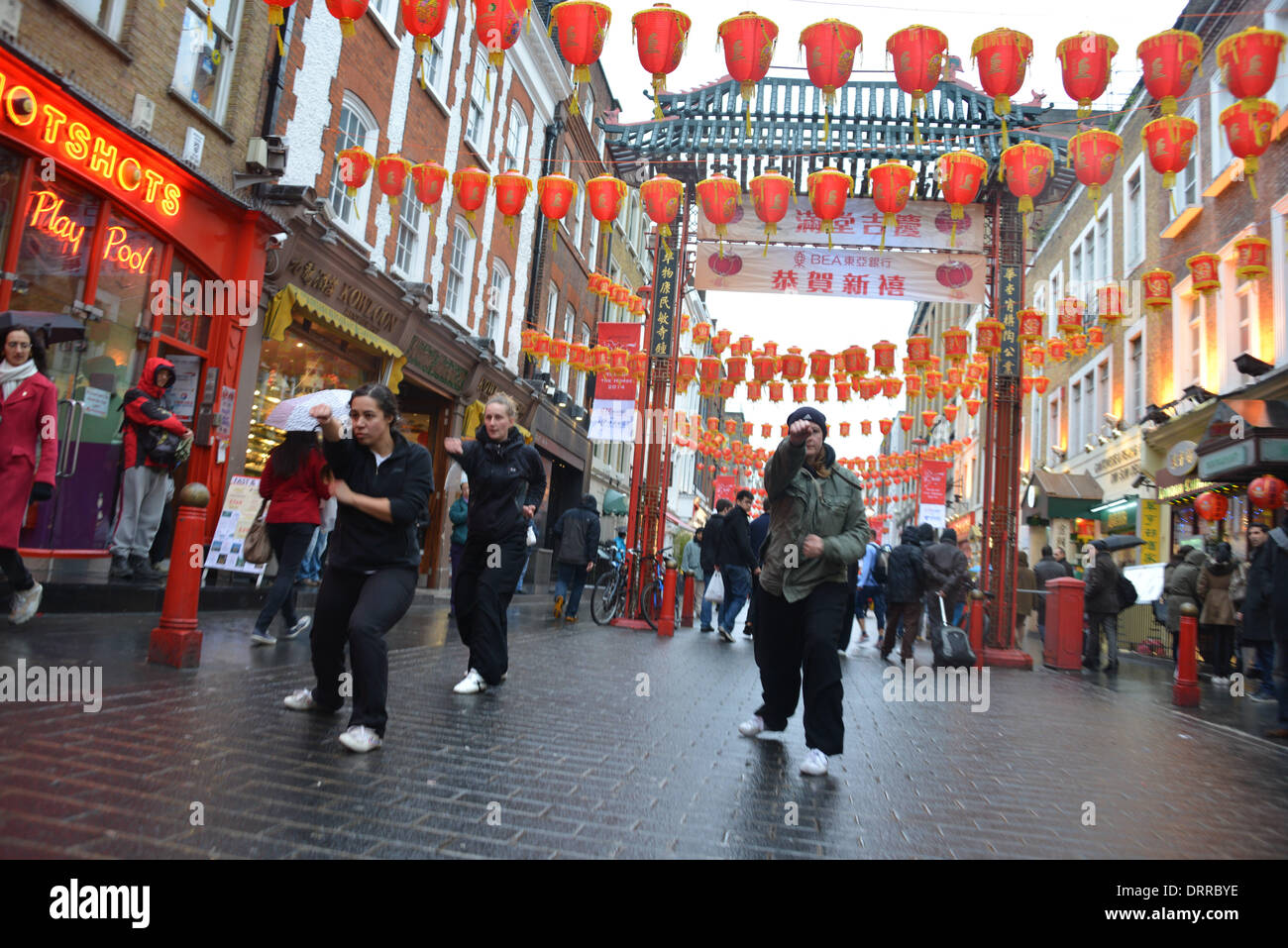 London UK, 31th January 2014: My Asian Planet live on BBC World New boardcast the celebration Chinese new Year of Stock Photo