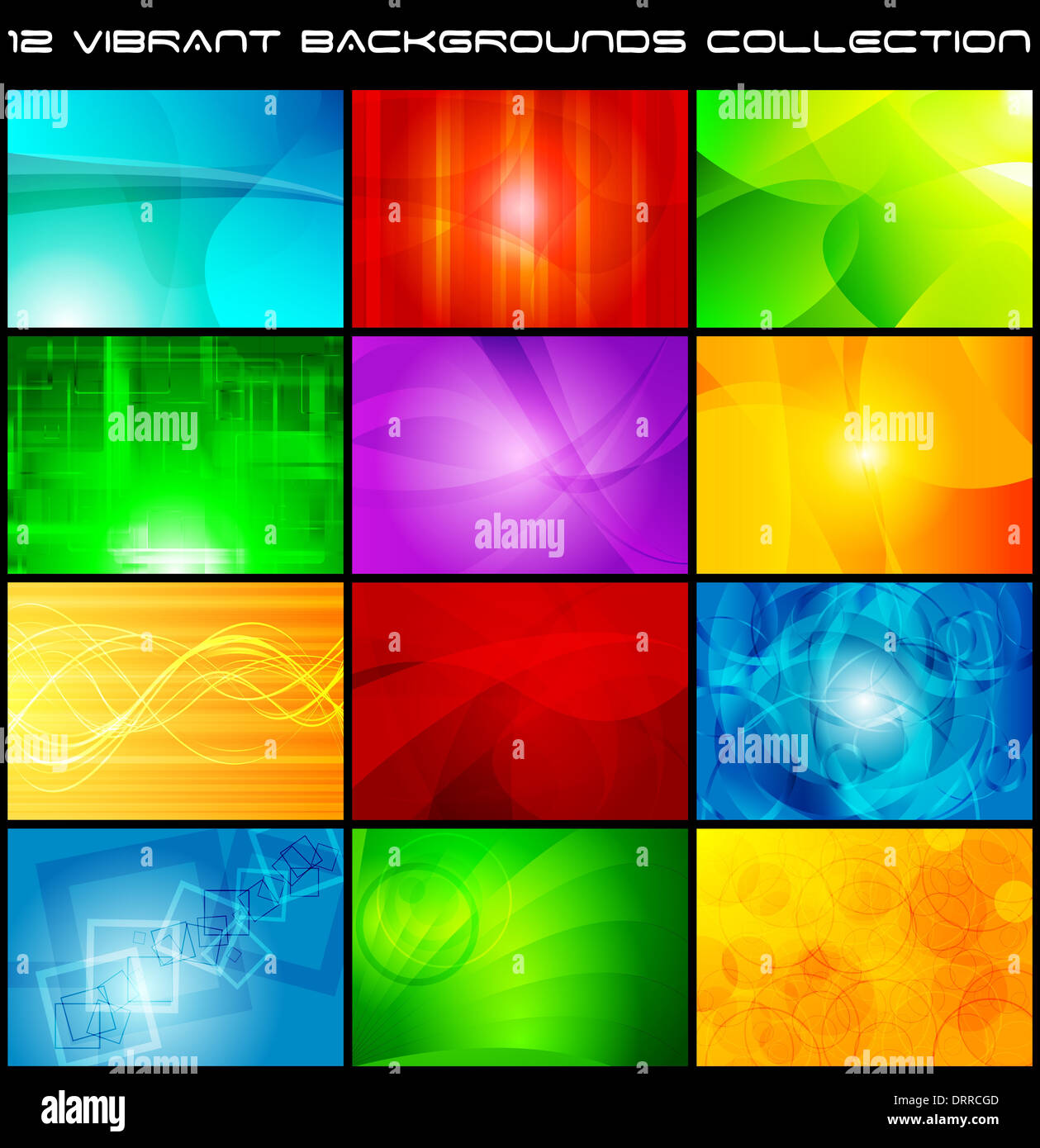 Set of bright abstract backgrounds - Stock Image