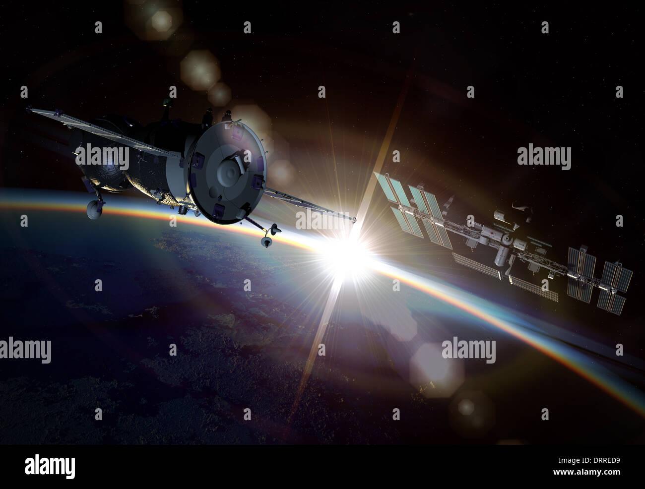 orbital maneuver Stock Photo